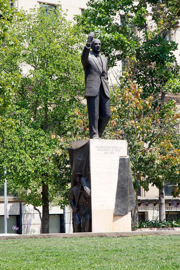 Statua Eduardo Frei Montalva, Santiago de Chile, Chile obraz stock