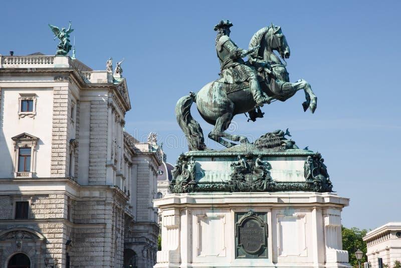 statua equestre del ½ del ¿ del ï di principe Eugene della Savoia, uno dei greates immagini stock libere da diritti