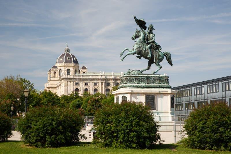 Statua equestre dell'arciduca Charles dell'Austria Erzherzog Karl immagine stock
