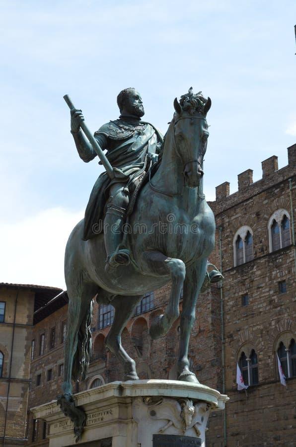 Statua equestre di Cosimo de Medici fotografia stock libera da diritti