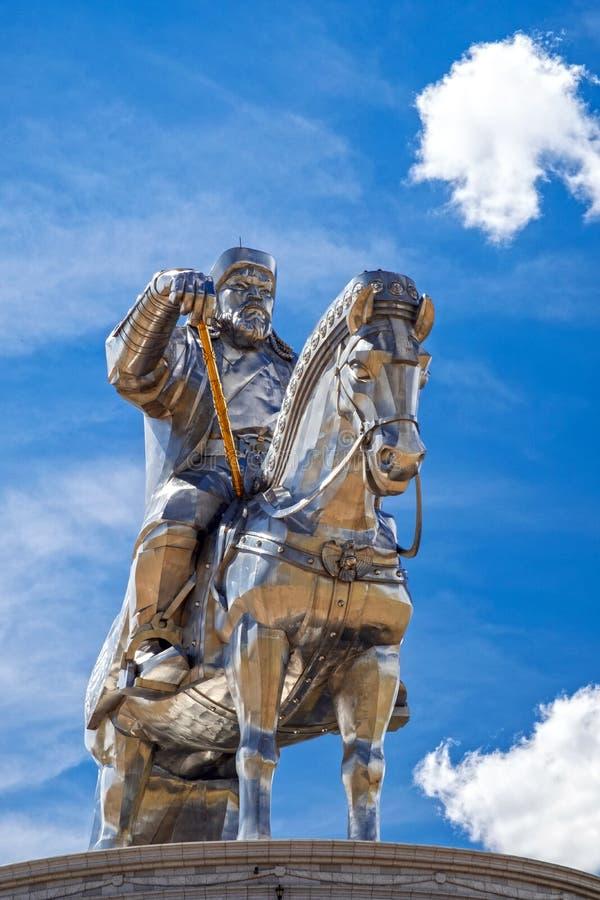 Statua equestre 2008 di Gengis Khan immagine stock libera da diritti