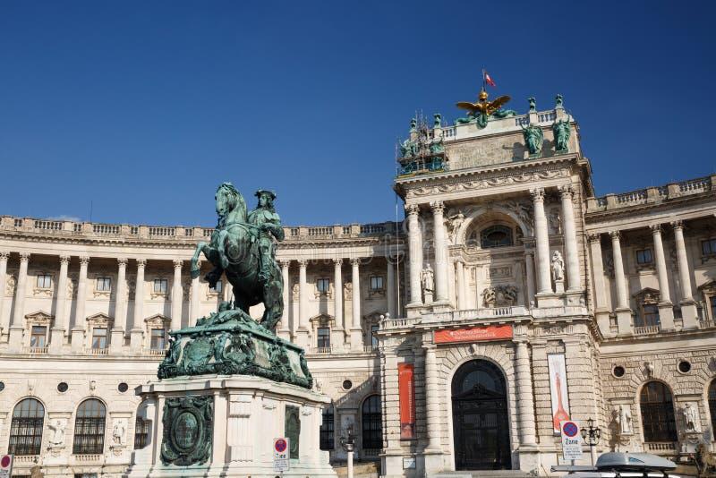 Statua equestre di principe Eugene della Savoia Prinz Eugen von Sav fotografie stock
