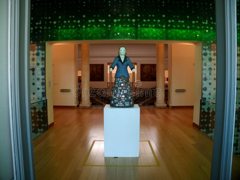 Statua Eva Perà ³ n przy Evita sztuk pięknych muzeum obrazy royalty free