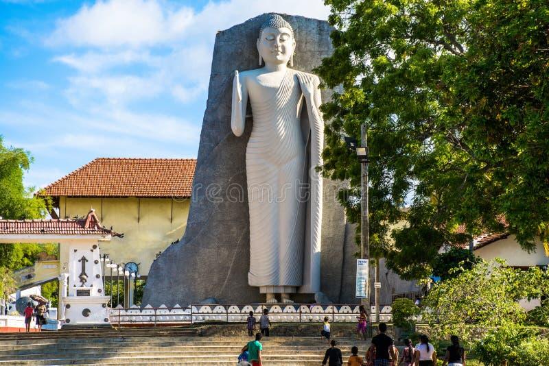 Statua famosa di budda nello Sri Lanka immagine stock libera da diritti