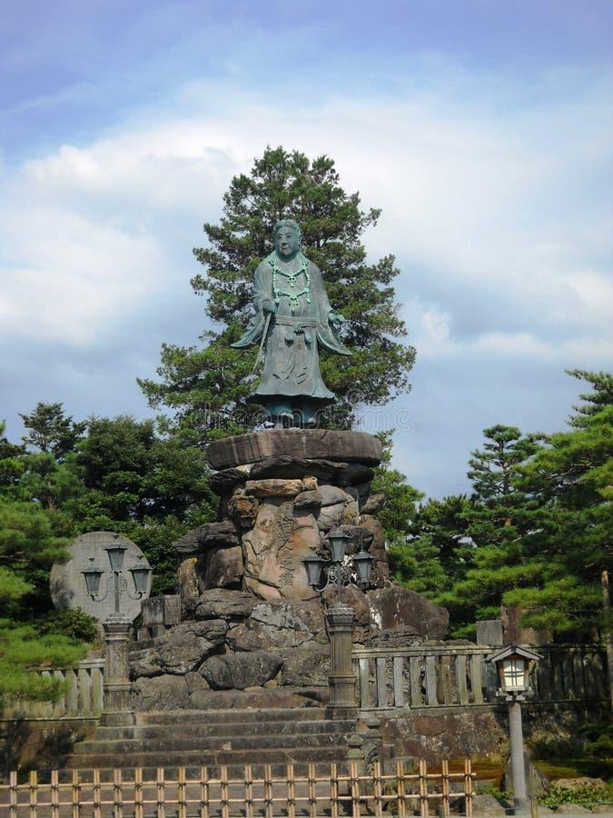 statua famosa e molto vecchia nel Giappone, ho dimenticato circa la storia immagine stock libera da diritti