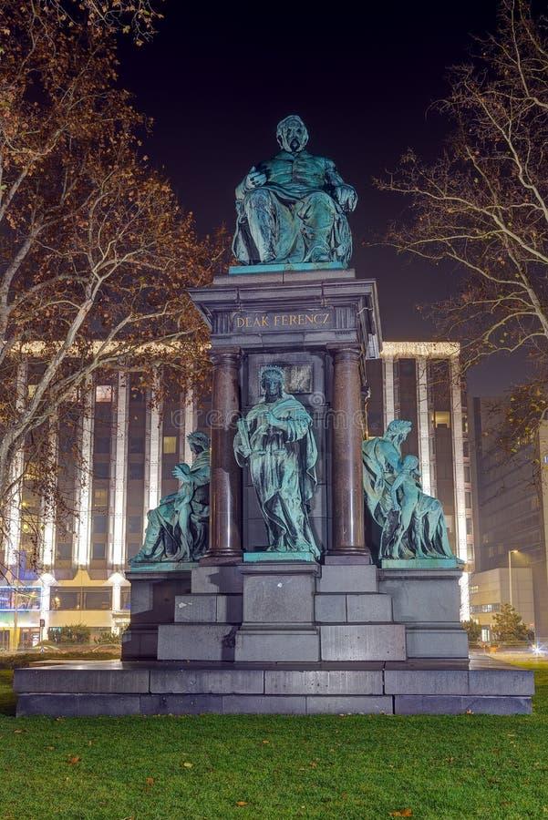Statua Ferenc Deak, Budapest, Węgry obraz stock