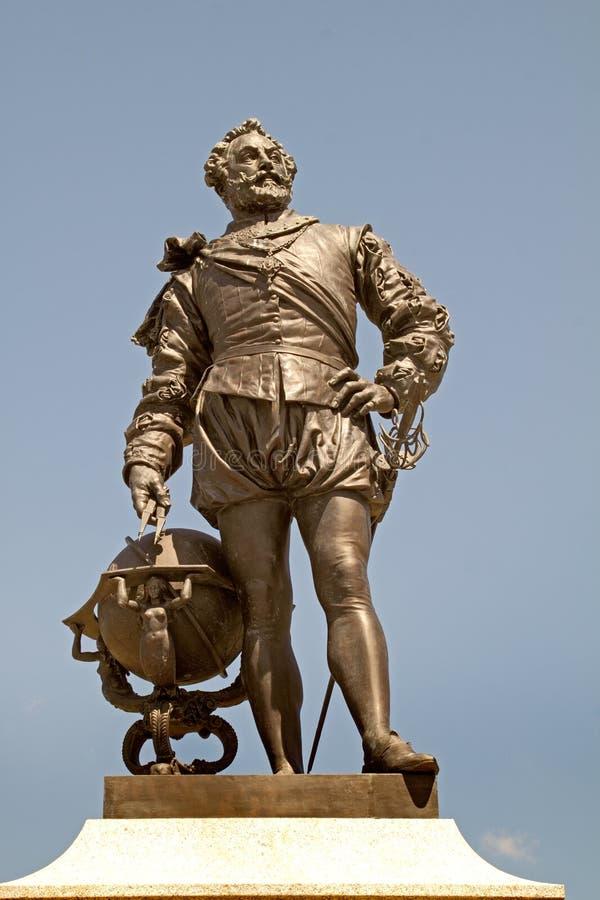 Statua Francis Drake zdjęcie stock