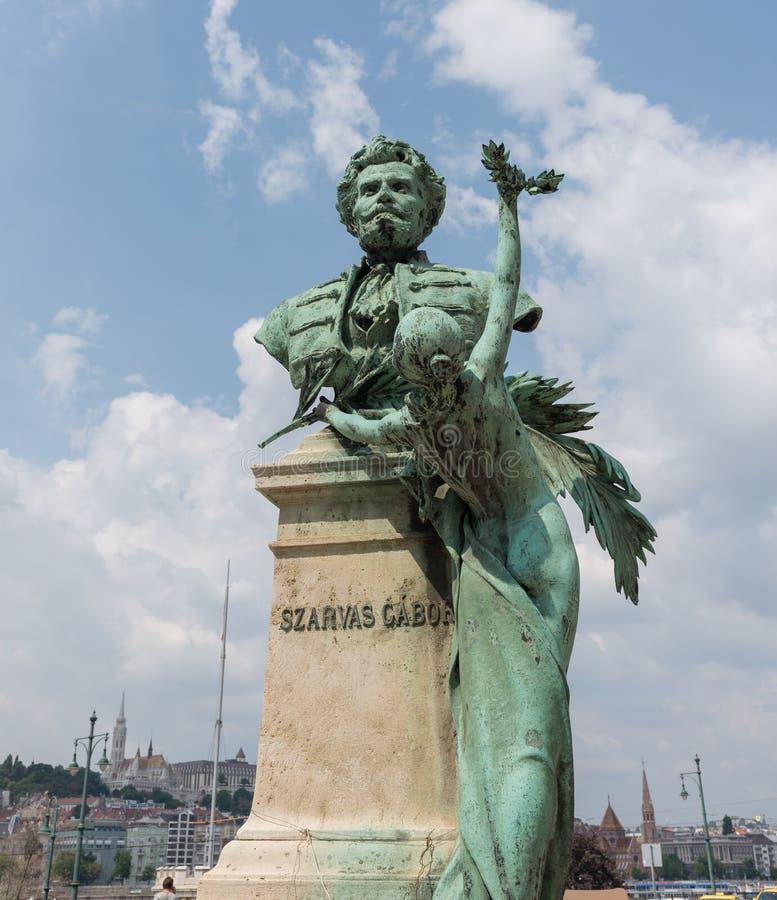 Statua Gabor Szarvas, Budapest, Węgry - obrazy royalty free