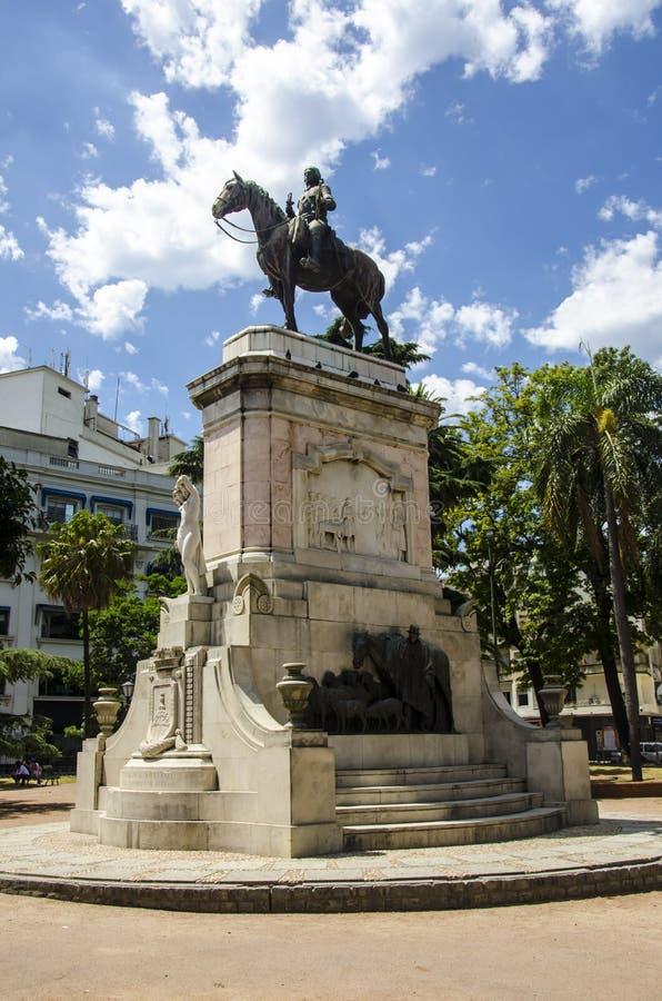 Statua generał Artigas zdjęcia royalty free