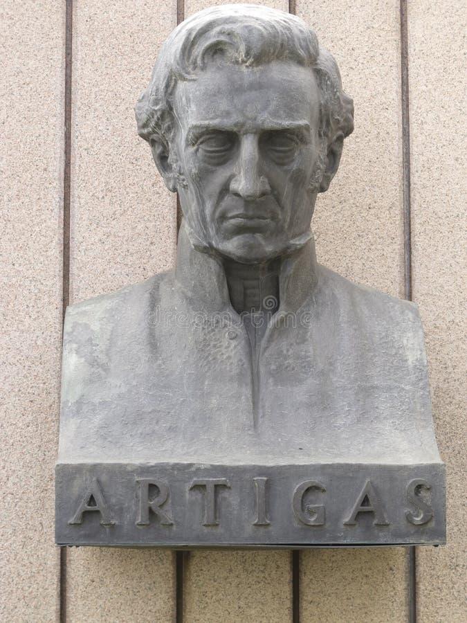 Statua generał Artigas zdjęcie stock
