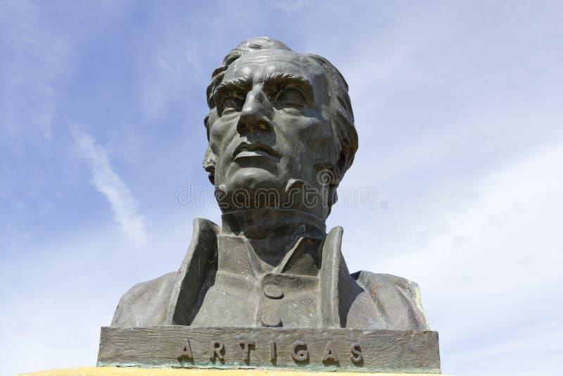 Statua generał Artigas fotografia royalty free