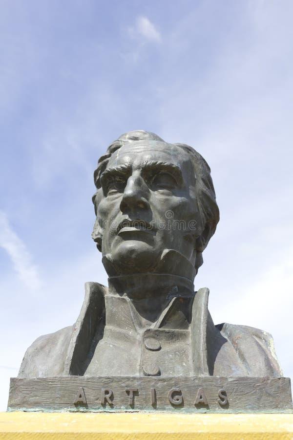 Statua generał Artigas fotografia stock