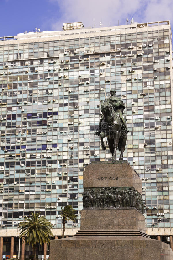 Statua generał Artigas Montevideo, Urugwaj zdjęcie royalty free