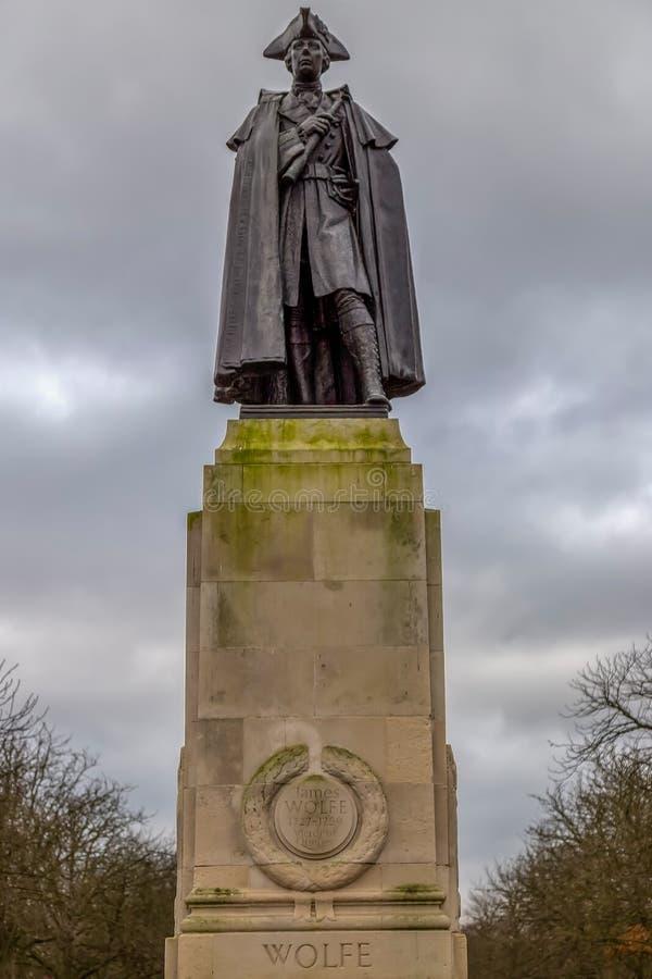 Statua generał dywizji James Wolfe obraz stock