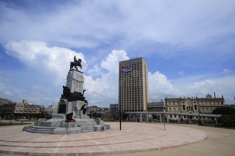 Statua generał dywizji Maximo Gomez obrazy royalty free