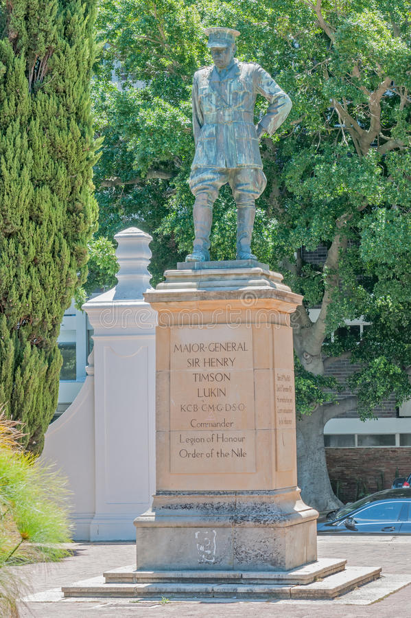 Statua generała dywizji Sir Henry Timson Lukin obraz stock