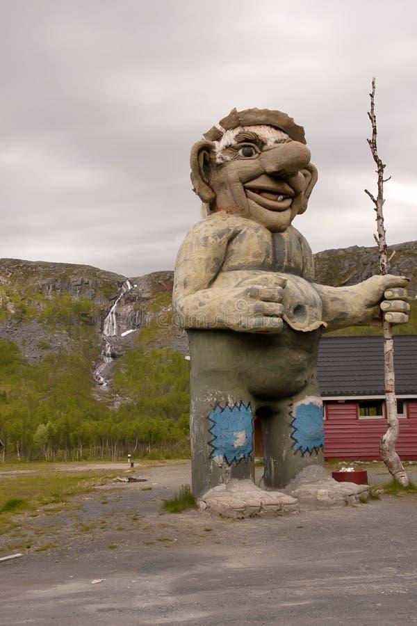 statua gigante di un troll, Norvegia immagini stock