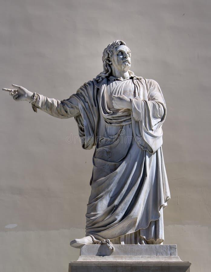 Statua greca del filosofo immagine stock libera da diritti