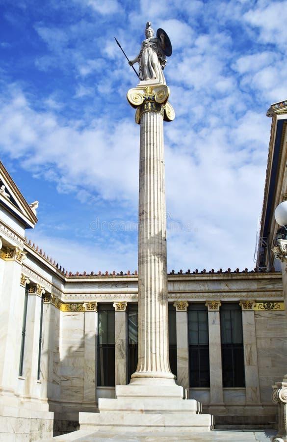 Statua Grecia di Atena della dea fotografia stock libera da diritti