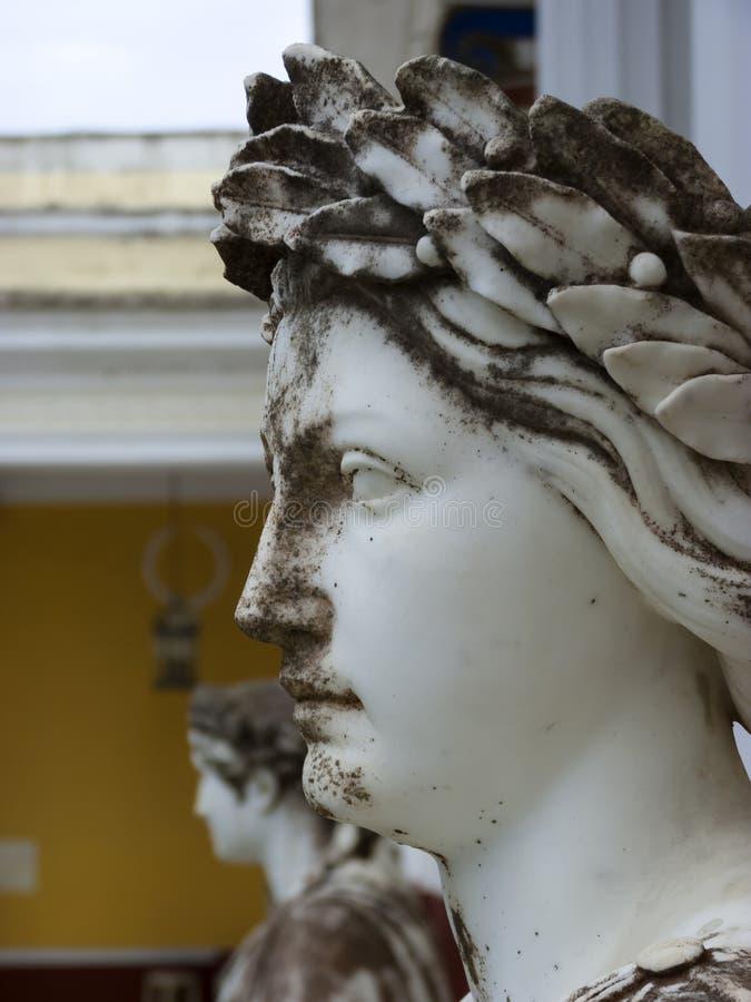 Statua Grecki mityczny duma w Achilleion pałac w Corfu, Grecja fotografia royalty free
