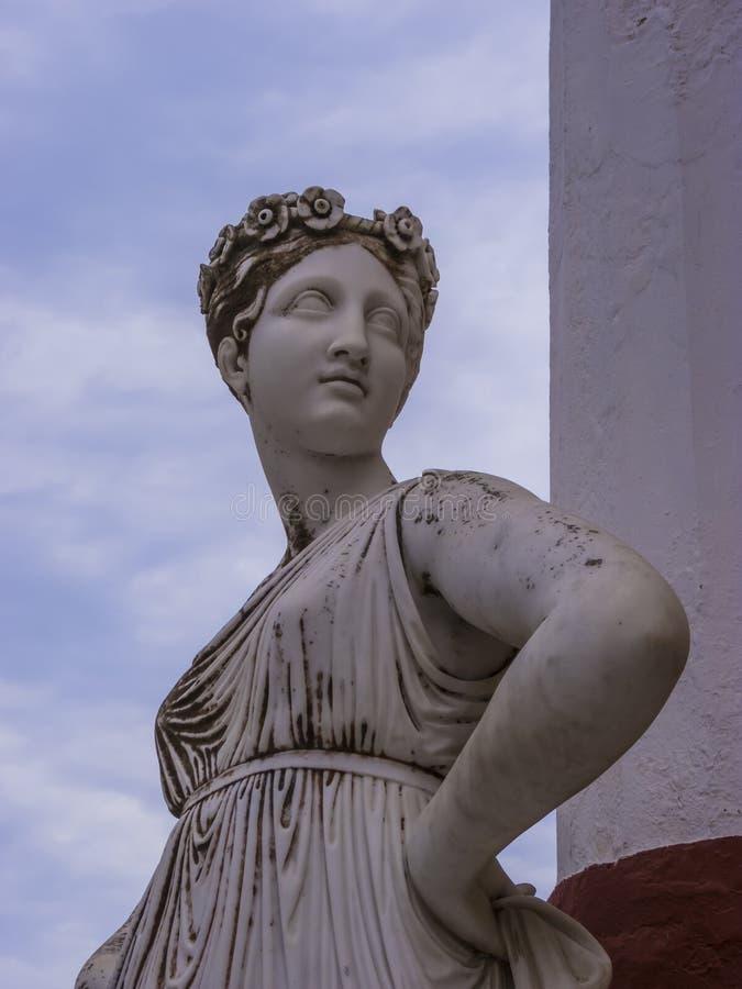 Statua Grecki mityczny duma w Achilleion pałac w Corfu, Grecja zdjęcie royalty free