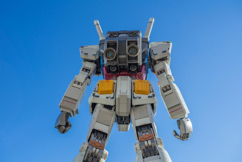 Statua Gundam przy DivercCity Tokio placem w Tokio zdjęcie royalty free