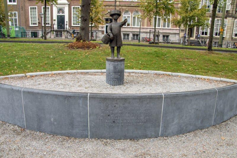 Statua Haags Jantje a Den Haag City The Netherlands 2018 immagine stock