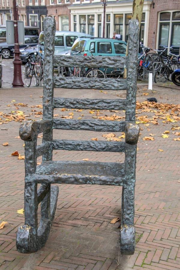 Statua Haags Jantje a Den Haag City The Netherlands 2018 fotografie stock libere da diritti