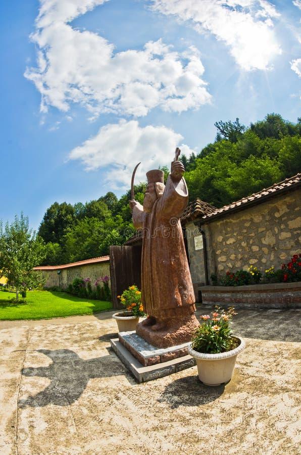 Statua Hadzi Milentije, powstanie lider przeciw Osmańskiemu imperium zdjęcie stock