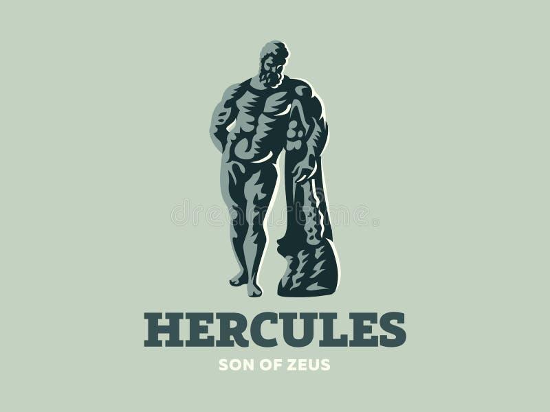 Statua Hercules również zwrócić corel ilustracji wektora ilustracji