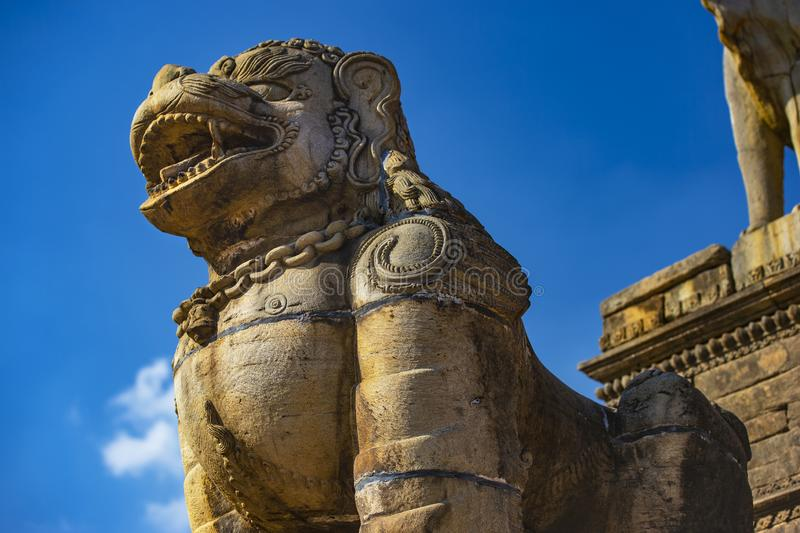 Statua hinduizm Mitologiczna istota, Bhakyapur, Nepal obrazy royalty free