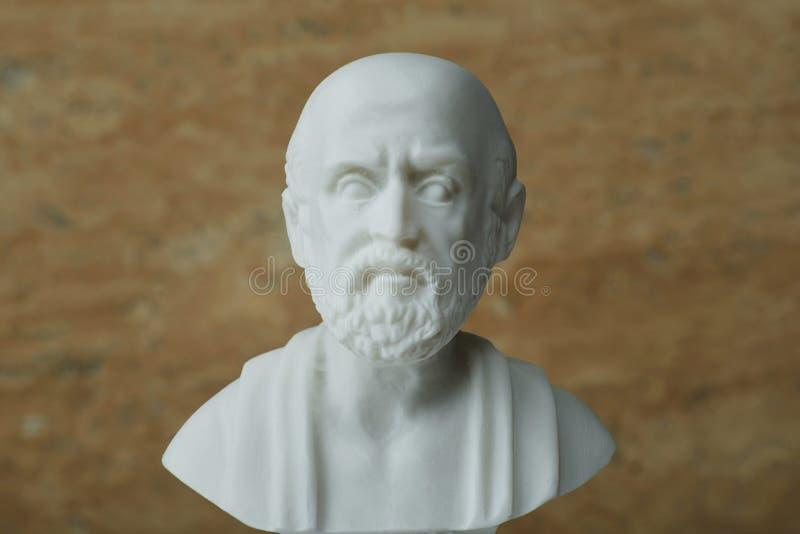 Statua Hippocrates, starożytnego grka lekarz obraz royalty free