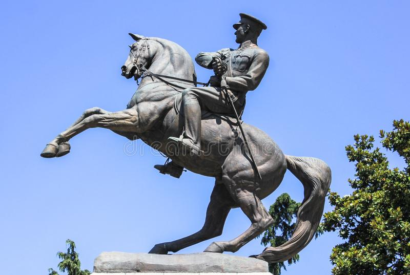 Statua honoru Ataturk aka zabytek w Samsun, Turcja obraz royalty free