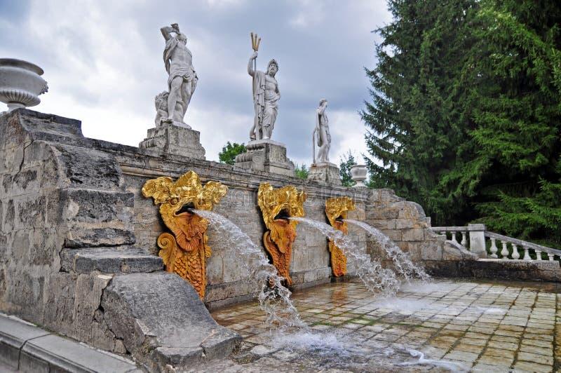 Statua i fontanna obraz royalty free