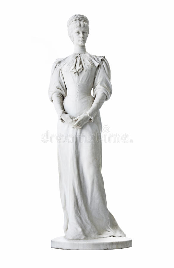 Statua isolata dell'imperatrice Elisabeth II dall'Austria a Corfù a fotografia stock libera da diritti