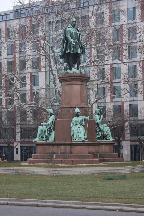 Statua Istvan Szechenyi, jeden wielcy mężowie stanu Węgierska historia, Budapest statua Węgierskim rzeźbiarzem Jos obraz royalty free