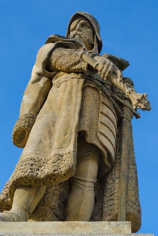 Statua Jan Zizka od Trocnov w Tabor, republika czech, Europa obrazy royalty free