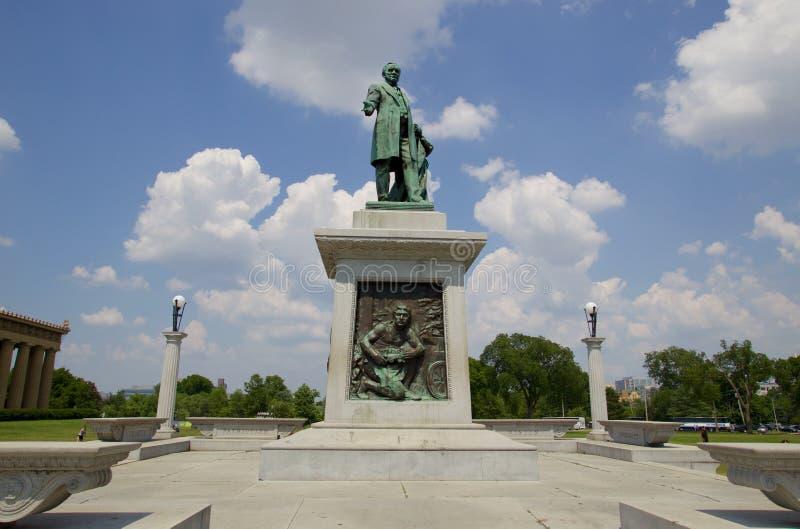 Statua John W Thomas w Centennial parku, Nashville Tennessee fotografia royalty free