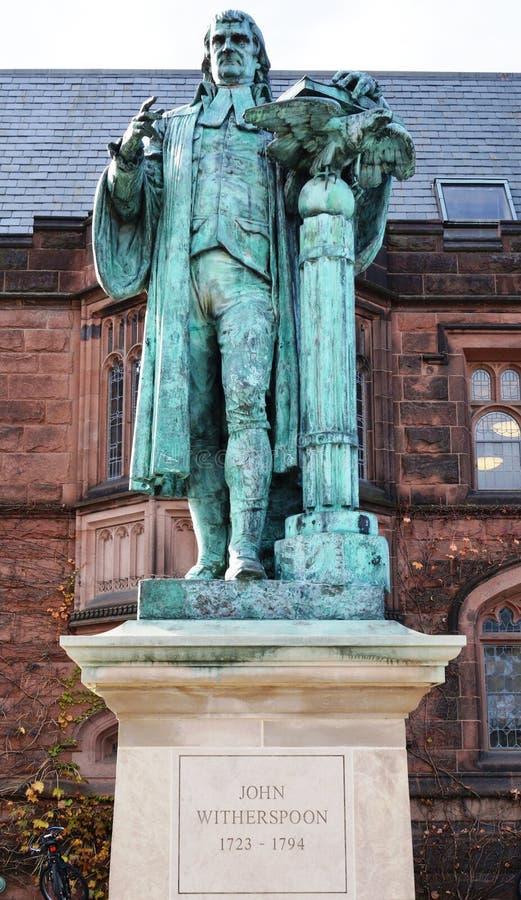 Statua John Witherspoon na c (1723-1794) zdjęcia stock