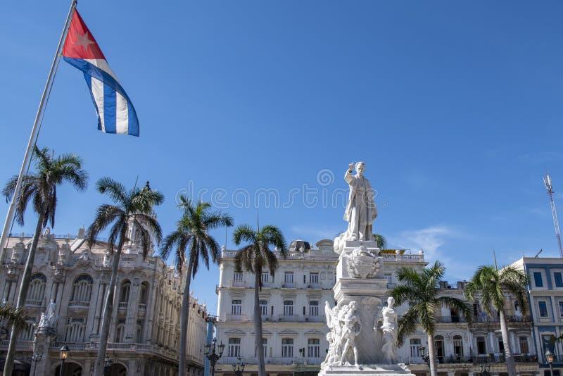 Statua José Marti, central park, Hawański, Kuba fotografia stock