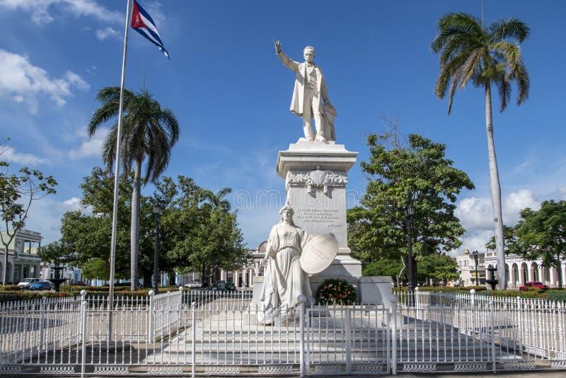 Statua José Marti, Cienfuegos, Kuba fotografia stock