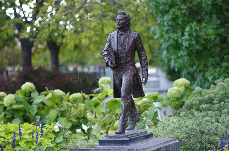 Statua Joseph Smith jr zdjęcia stock