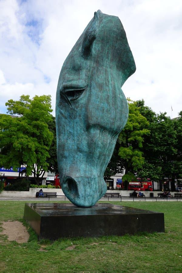 Statua koń głowa. zdjęcie royalty free