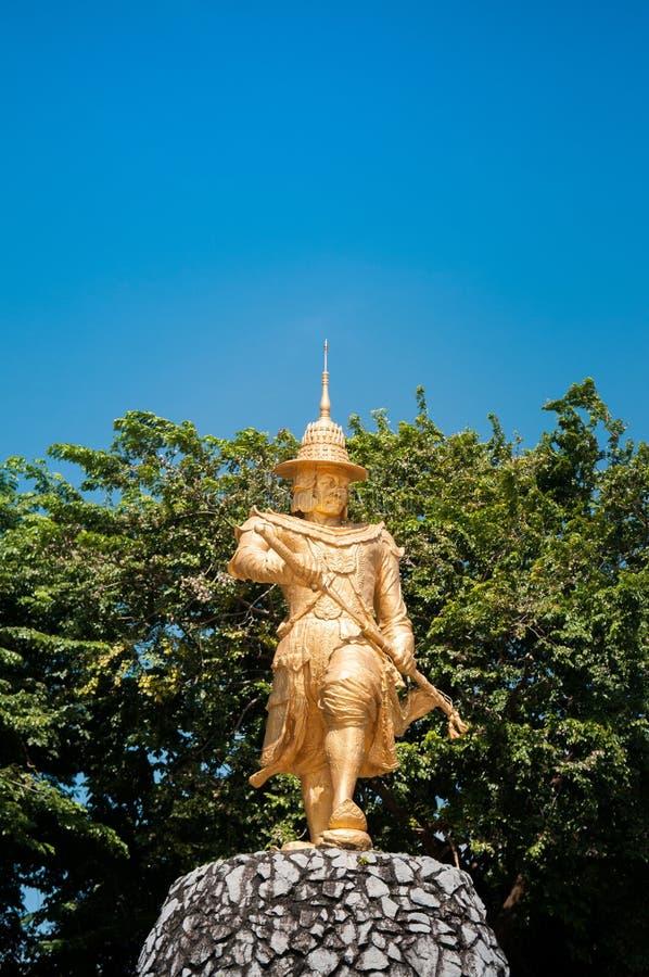 Statua królewiątko Bayint Naung, Kawthaung -, Myanmar fotografia stock