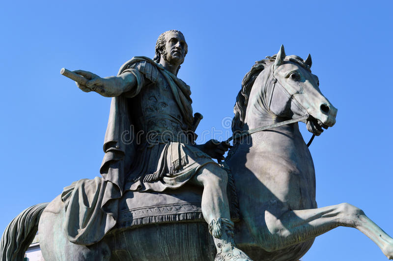 Statua królewiątko Ferdinand Ja, Naples obrazy stock