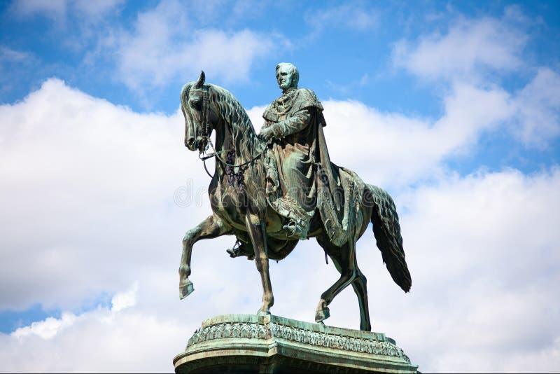 Statua królewiątko Johann John, Drezdeńska, Niemcy fotografia stock