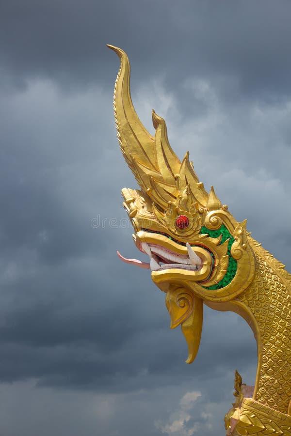 Statua królewiątko Nagas symbol jest świętym wizerunkiem który budd zdjęcie royalty free