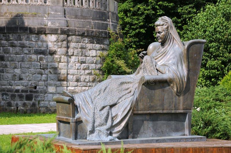 Statua królowa Elisabeth obrazy royalty free