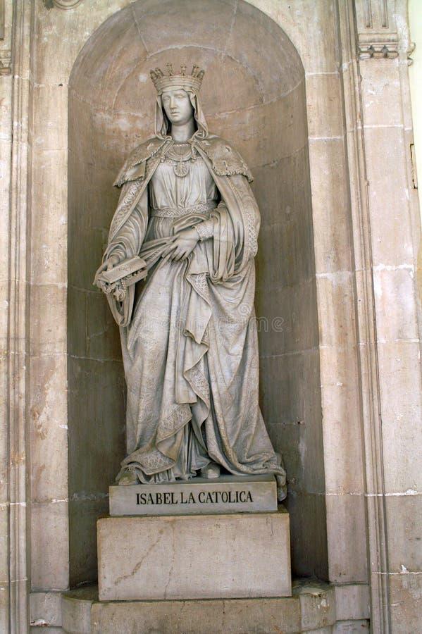 Statua królowa Isabella w Madryt zdjęcie stock