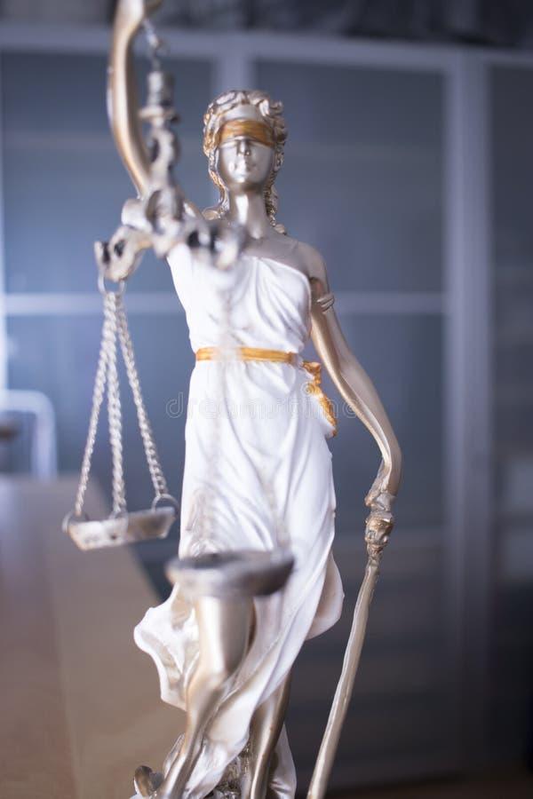 Statua legale della giustizia dello studio legale fotografie stock libere da diritti
